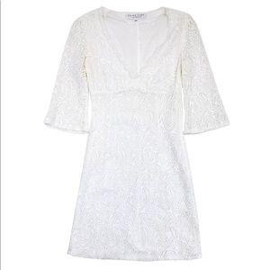 NWT Trina Turk White Crochet Dress